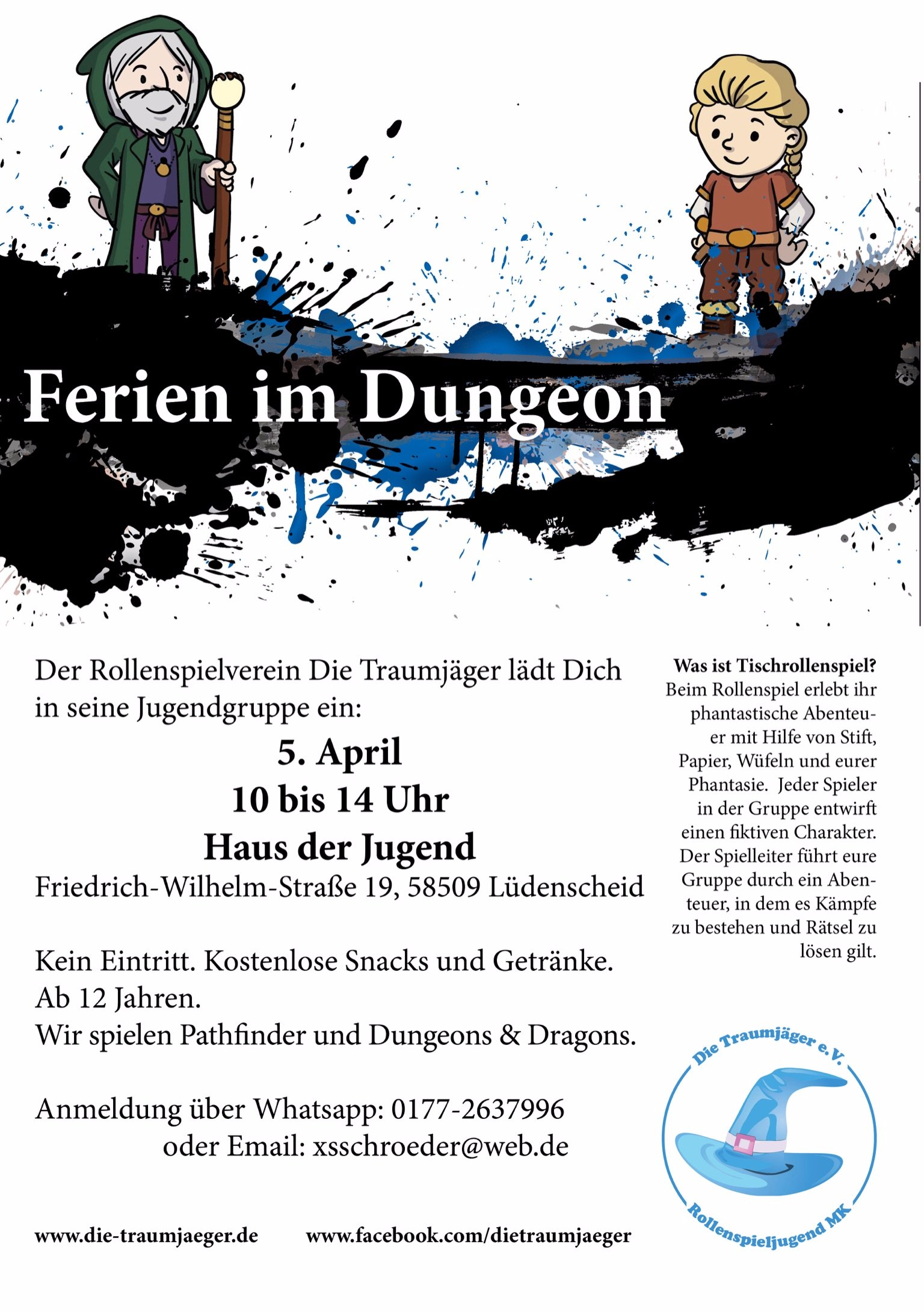 Ferien im Dungeon - Traumjäger Rollenspiel Jugendgruppe @ Haus der Jugend | Lüdenscheid | Nordrhein-Westfalen | Deutschland